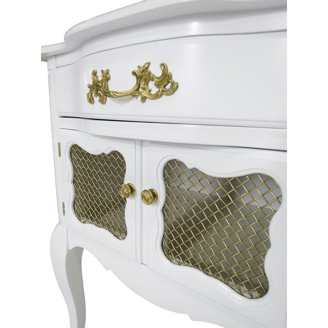 White French-Style Nightstands, Pair - Image 5 of 6