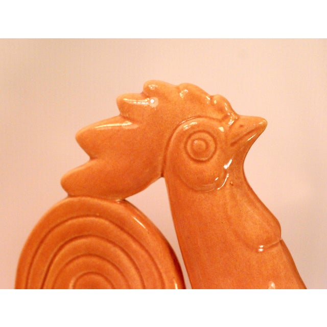 La Mirada Pottery Salmon Pink Roosters - A Pair - Image 7 of 10
