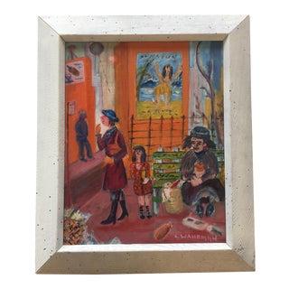 Mid Century Modernist Original Painting, Street