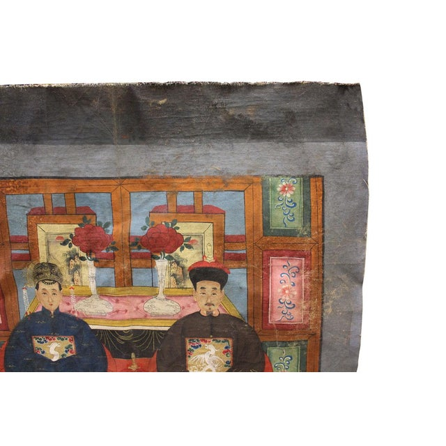 Vintage Chinese Canvas Artwork - Image 2 of 6