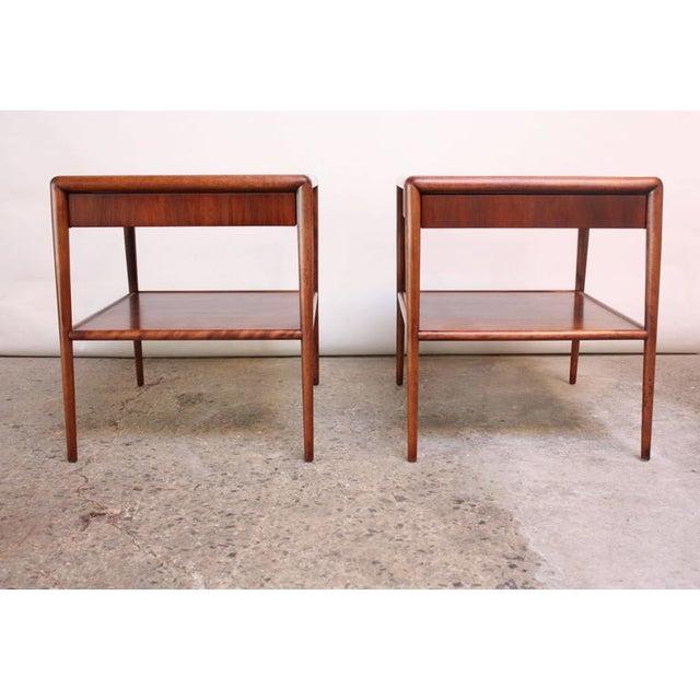 Pair of T. H. Robsjohn-Gibbings Single Drawer End Tables - Image 2 of 10