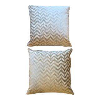 Room & Board White Herringbone Pillows - A Pair