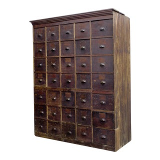 1890s Large Antique Multi-Drawer Storage Cabinet