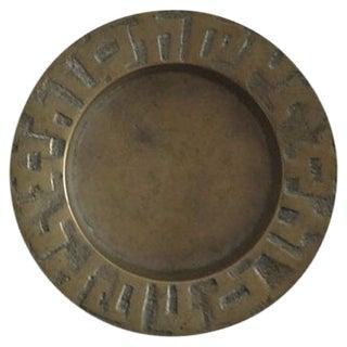 Geometric Brass Ashtray