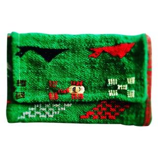 Vintage Green Moroccan Kilim Clutch