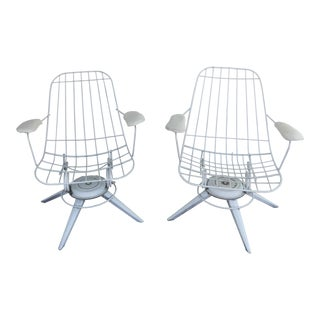 Mid-Century Homecrest Wire Chairs - A Pair