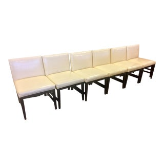 White & Black Tuxedo Dining Chairs - Set of 6