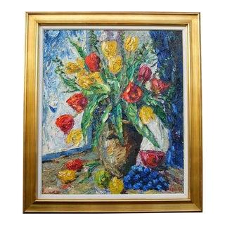 Flowers in Vase Still Life Painting by Finn Andersen