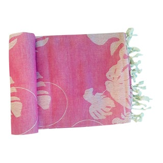 Turkish 'Rio' Fuchsia Cotton Throw