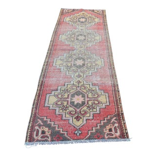 "Oushak Turkish Runner Rug - 31"" x 106"""
