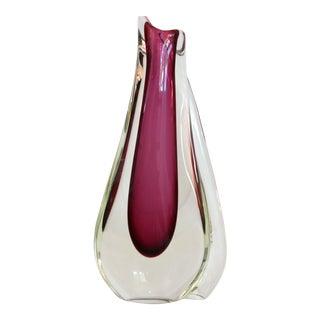 Fuschia Murano Glass Vase