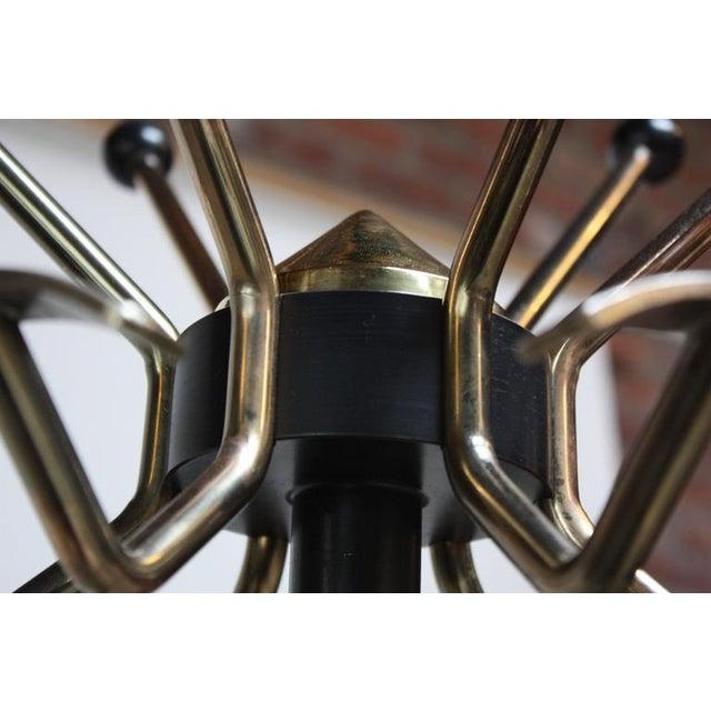 Mid-Century Italian Modern Brass Swivelling Coat Rack - Image 8 of 11