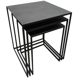 Contemporary Metal Nesting Tables - Set of 3