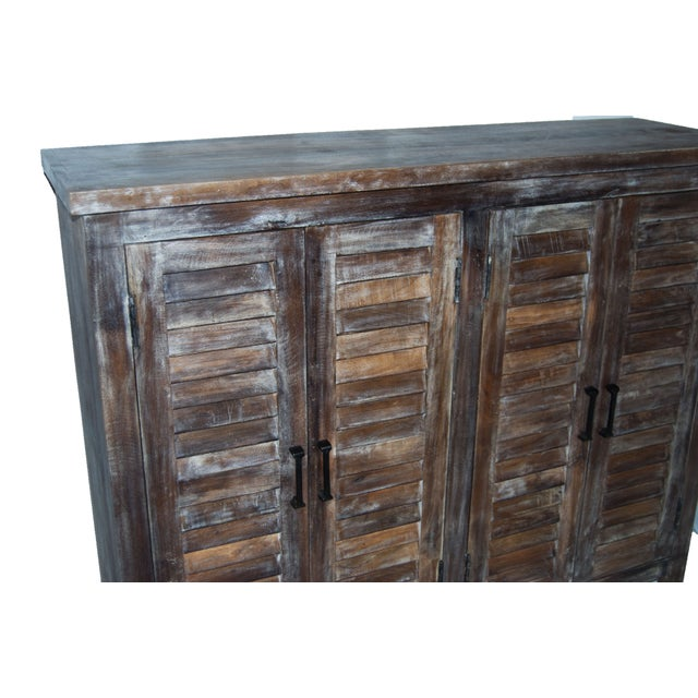 Reclaimed Shutter Cabinet Credenza - Image 2 of 4