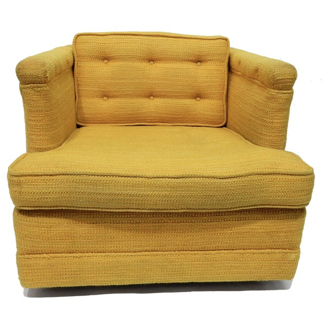 Image of Yellow Mid-Century Club Chair