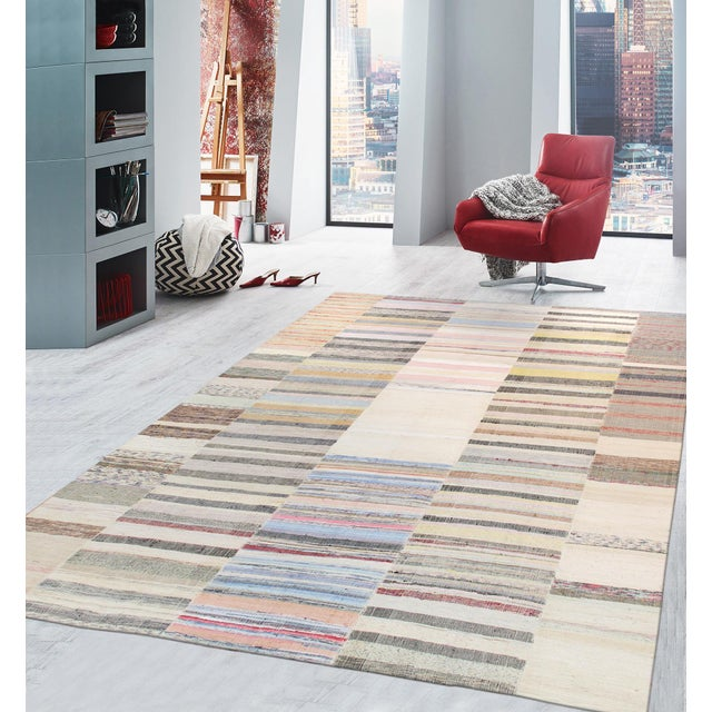 "Vintage Modern Cotton Rug - 9' 3"" X 12' 2"" - Image 3 of 3"