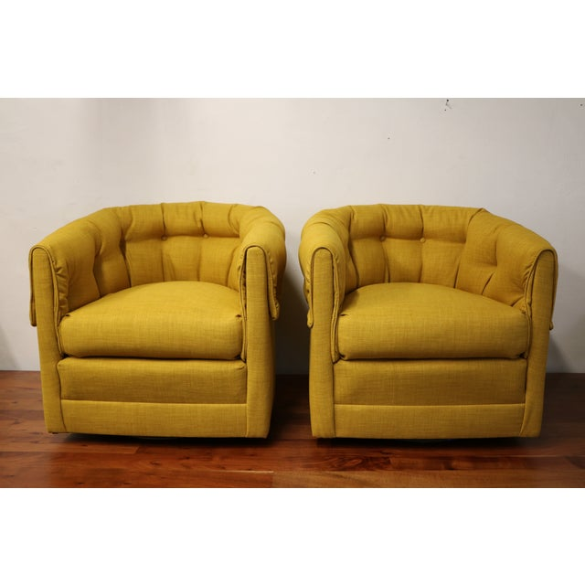 Vintage Swivel Lounge Chairs - A Pair - Image 2 of 6