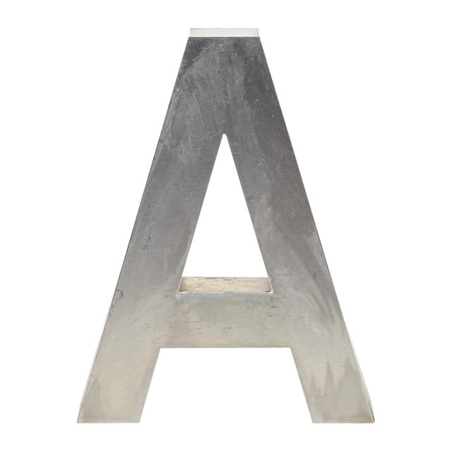 "Aluminum ""A"" Letter - Image 1 of 4"