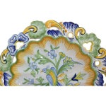 Image of Antique Hand-Painted French Faience Wall Plate