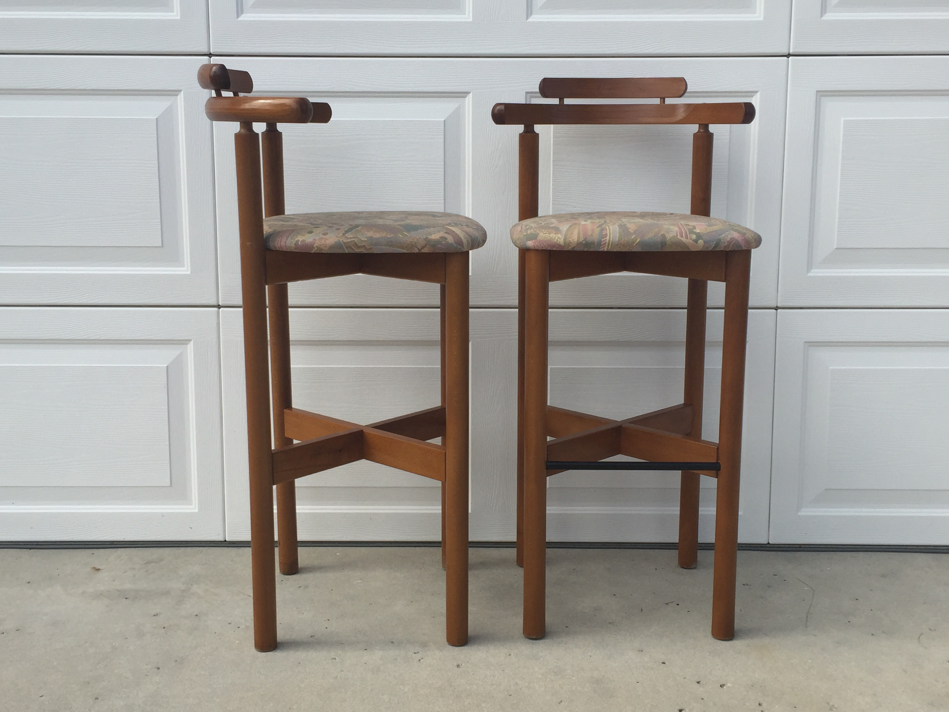 Mid Century Danish Teak Bar Stools A Pair Chairish