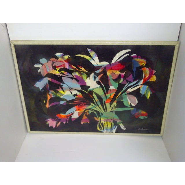 Multicolor Floral Painting by Aldrich Jenkins - Image 2 of 7