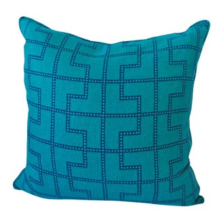 Celerie Kemble Schumacher Blue and Green Pillow