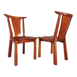 Thos. Moser Cherry Edo Dining Chairs - Pair