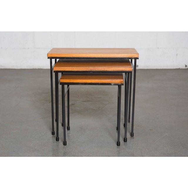 Teak Nesting Side Tables - Set of 3 - Image 2 of 9