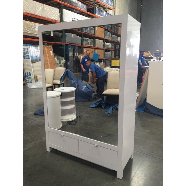 Ebbett Design & Associates White Mirrored Armoire - Image 3 of 9