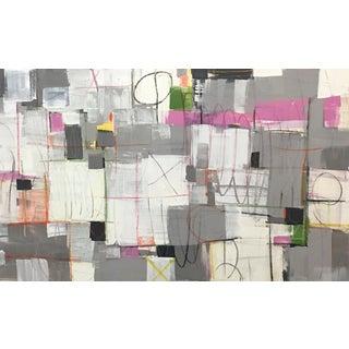 "Isabel Wyatt ""Checker Cab"" Abstract Painting"