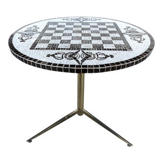 Checkerboard Tile Top Table
