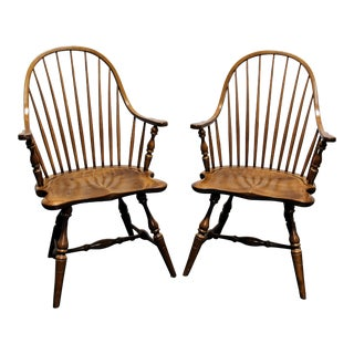Frederick Duckloe & Bros Colonial Reproductions Cooper Windsor Chairs - A Pair