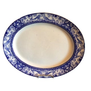 Large English Country Blue & White Platter