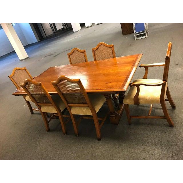 Windsor Furniture Natural Wood Dining Room Set