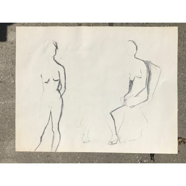 Original Two Nudes Sketch - Image 2 of 4
