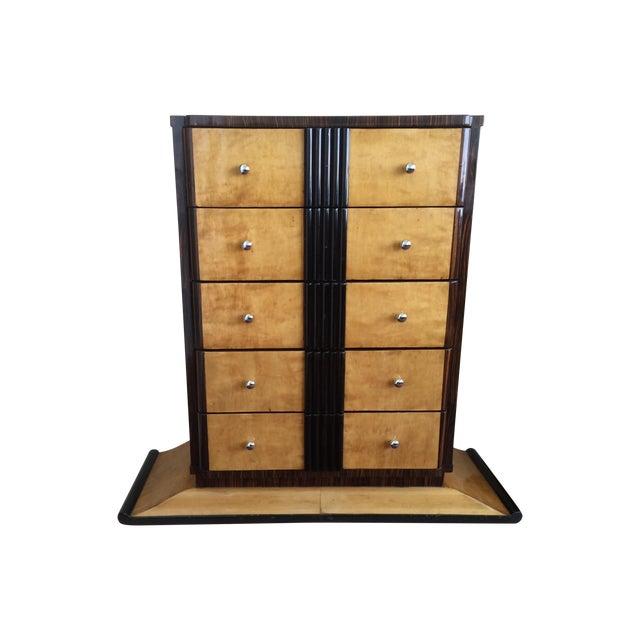 1920s Art Deco Zebra Wood Dresser - Image 1 of 4