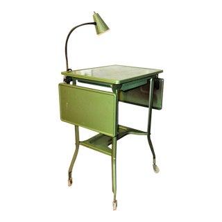 Industrial Rolling Cart Typewriter Metal Table
