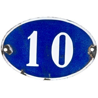 French Oval House Number 10