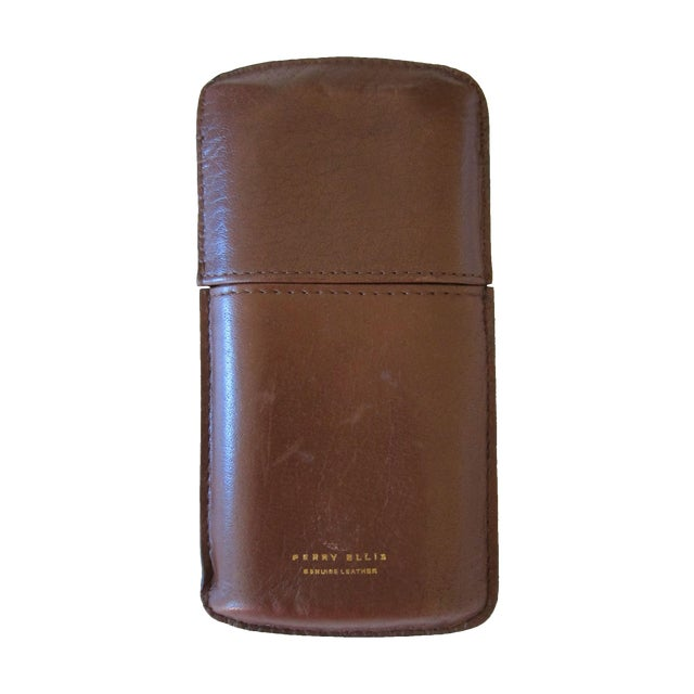 Image of Perry Ellis Leather Cigar Case