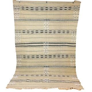 Vintage Moroccan Neutral Kilim Rug - 5′10″ × 8′7″