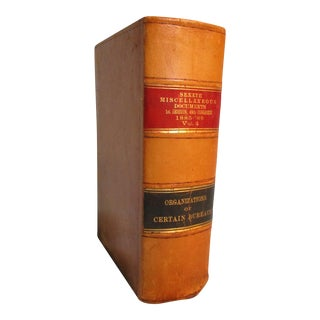 1886 Leather United States Senate 49th Congress Book