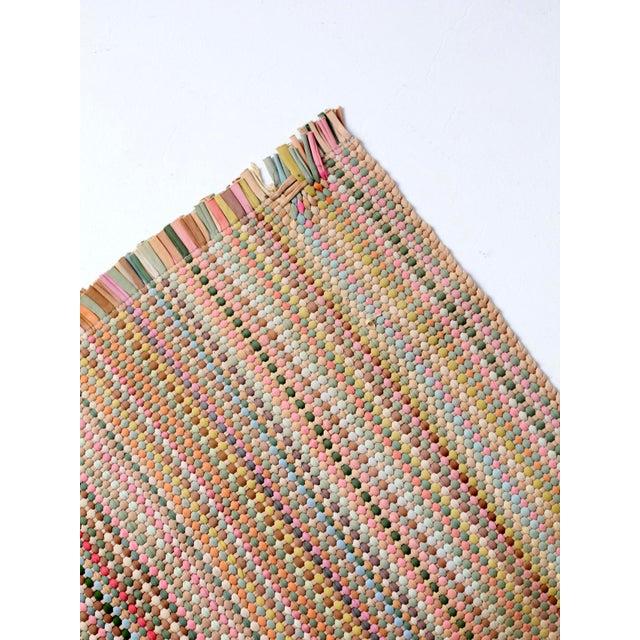 Vintage Pastel Rag Rug - 2′ × 3′1″