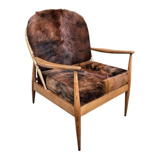 Danish Mid Century Modern Cowhide Chair