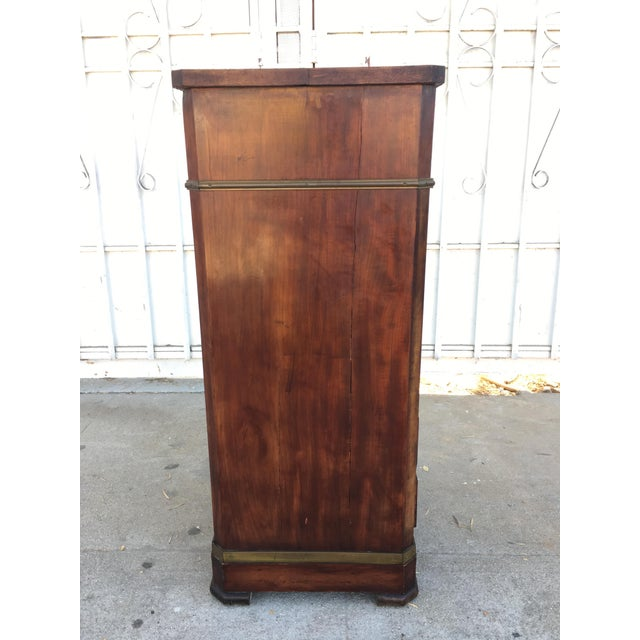 Image of Antique Walnut & Brass Chest of Drawers