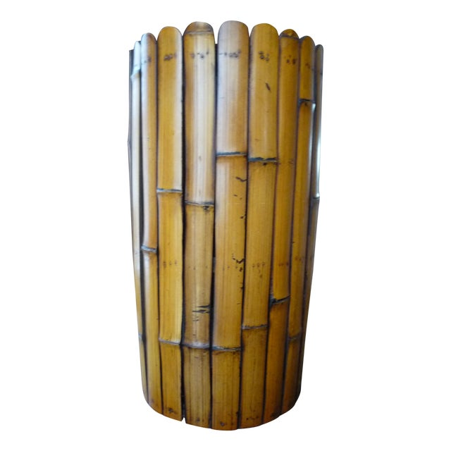 Bamboo Umbrella Stand with Liner - Image 1 of 5