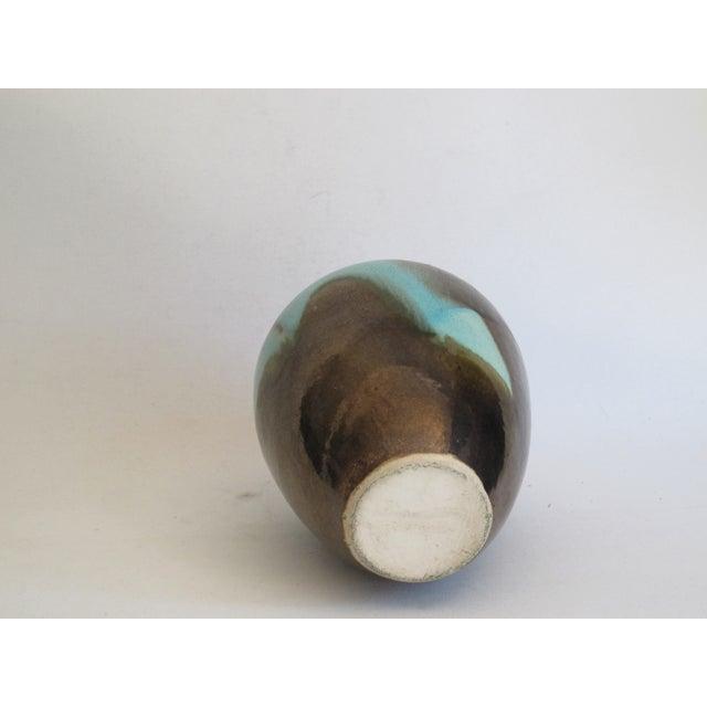 Teal & Brown Chinese Glazed Porcelain Vase - Image 5 of 6