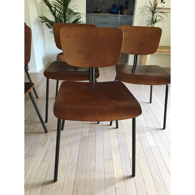 Molded Wood Dining Chairs - Set of 6 - Image 3 of 6