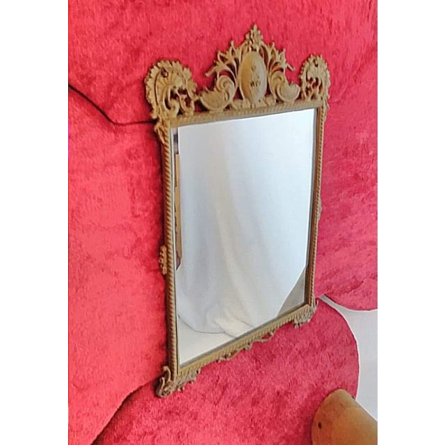 Antique Horn Coat & Hat Rack W/ Victorian Mirror - Image 3 of 5