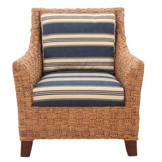 Nautical Wicker Lounge Chair