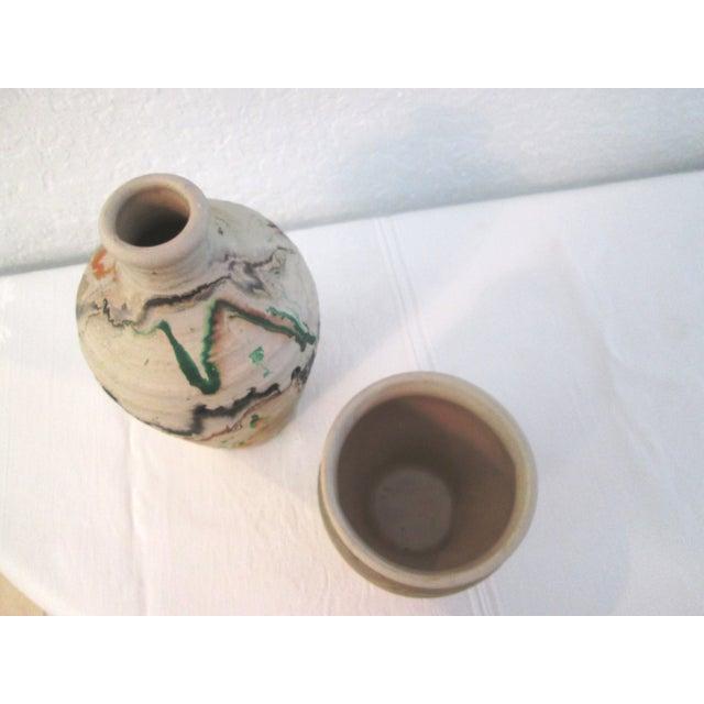 Nemadji Swirl Pottery Vessels - Pair - Image 11 of 11